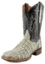 Dan Post Caiman Women Square Toe Leather Gray Western Boot.