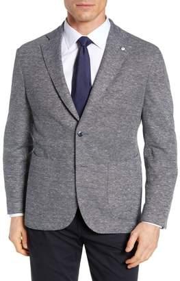 Lubiam Trim Fit Jersey Piqu? Cotton & Linen Sport Coat