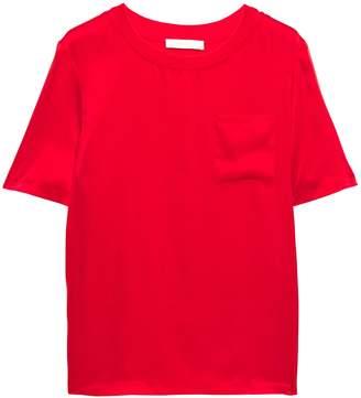 Maje Silk-satin T-shirt