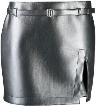 Philosophy di Lorenzo Serafini slit mini skirt