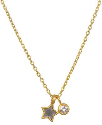 Satya White Topaz & Mini Star Charm w/ Chain