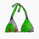 J.Crew Sliding halter bikini top in Ratti® striped floral