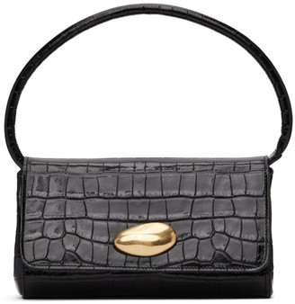 Little Liffner SSENSE Exclusive Black Croc Mini Baguette Bag