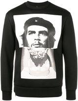 Neil Barrett hybrid marble Guevara sweatshirt - men - Polyurethane/Viscose - XS