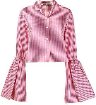 ANAÏS JOURDEN flared sleeve gingham shirt