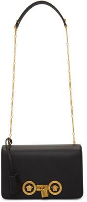 Versace Black Medium Icon Tribute Flap Bag