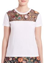 RED Valentino Floral Applique T-Shirt