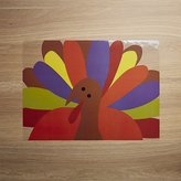 Crate & Barrel Cheerful Turkey Easy-Care Placemat
