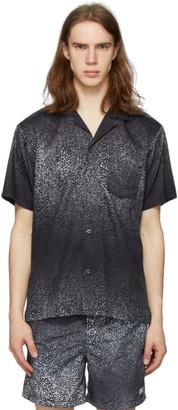 Bather Black and Grey Gradient Cheetah Camp Shirt