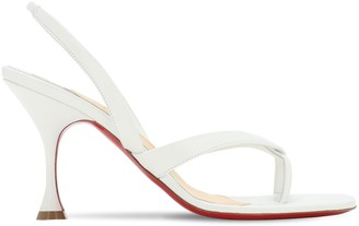 Christian Louboutin 85mm Taralita Leather Thong Sandals