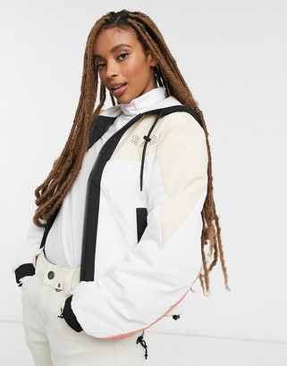 Topshop SNO ski jacket in white