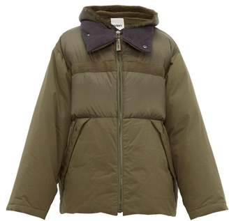 Yves Salomon Shearling-trimmed Technical Quilted-down Jacket - Mens - Green