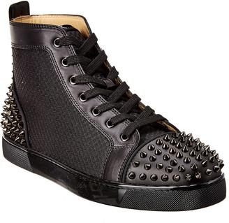Christian Louboutin Ac Lou Spikes 2 Leather & Mesh Sneaker