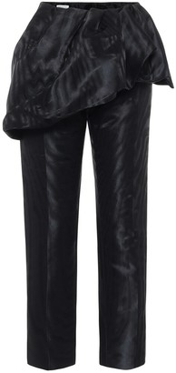 Dries Van Noten Peplum straight satin pants
