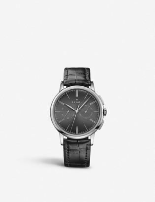 Zenith 03.2270.4069/26.C493 Elite Chronograph Classic calfskin-leather watch
