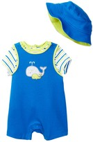 Offspring Whale Tee, Shortall, & Hat Set (Baby Boys)