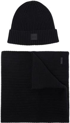 HUGO BOSS Gianto beanie and scarf set