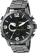 Fossil Men's JR1491 Nate Analog-Digital Display Analog Quartz Grey Watch