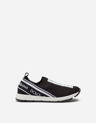 Dolce & Gabbana Sorrento Slip-On Sneakers With Logo Tape