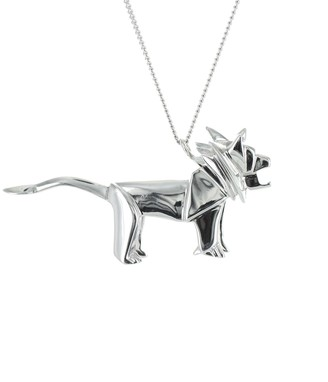 Origami Jewellery Lion Necklace Silver