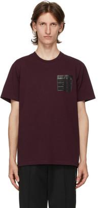 Maison Margiela Burgundy Stereotype T-Shirt
