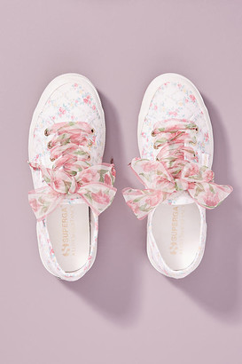 Superga x Loveshackfancy Floral Sneakers By in White Size 7.5