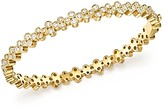 Temple St. Clair 18K Yellow Gold Eternity Diamond Trio Bangle Bracelet