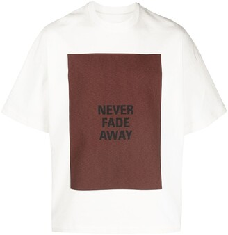 Jil Sander slogan-print T-shirt