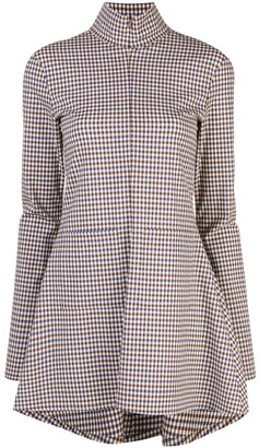Rosie Assoulin zipped plaid blouse
