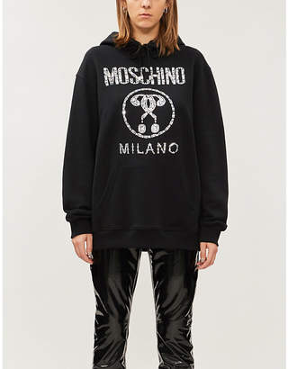 Moschino Logo-embellished cotton jersey hoody