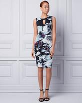 Le Château Floral Print Knit Scoop Neck Shift Dress