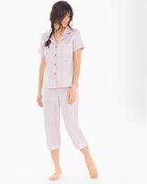 Soma Intimates Cotton Sateen Cropped Pants Pajama Set