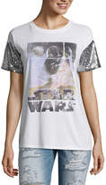 Star Wars Sequin Sleeve Graphic T-Shirt- Juniors