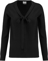 Madeleine Thompson Pussy-bow cashmere sweater
