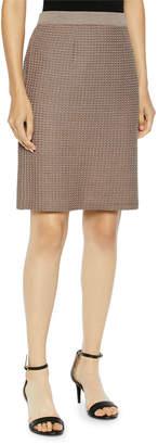 Misook Modern Dimensional Straight Knit Skirt