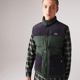 Lacoste Men's LIVE Cotton Canvas Blend Vest Jacket