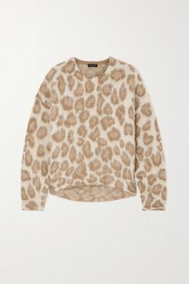Rag & Bone Printed Alpaca-blend Sweater - Leopard print