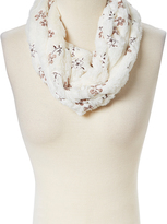 Pure Style Girlfriends Ivory Floral Faux Fur Infinity Scarf