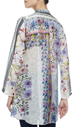 Johnny Was Collection Spencer Printed Button-Front Tunic