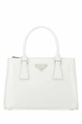 Prada Galleria Logo Plaque Tote Bag