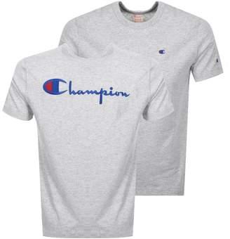 Champion Crew Neck Logo T Shirt Grey