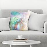 "Ikonolexi Agate Throw Pillow East Urban Home Size: 14"" x 14"""