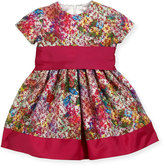 Helena Banded Floral Party Dress, Fuchsia, Size 2-6