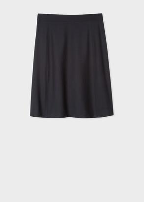 Paul Smith Women's Dark Navy Wool 'A Skirt To Travel In'