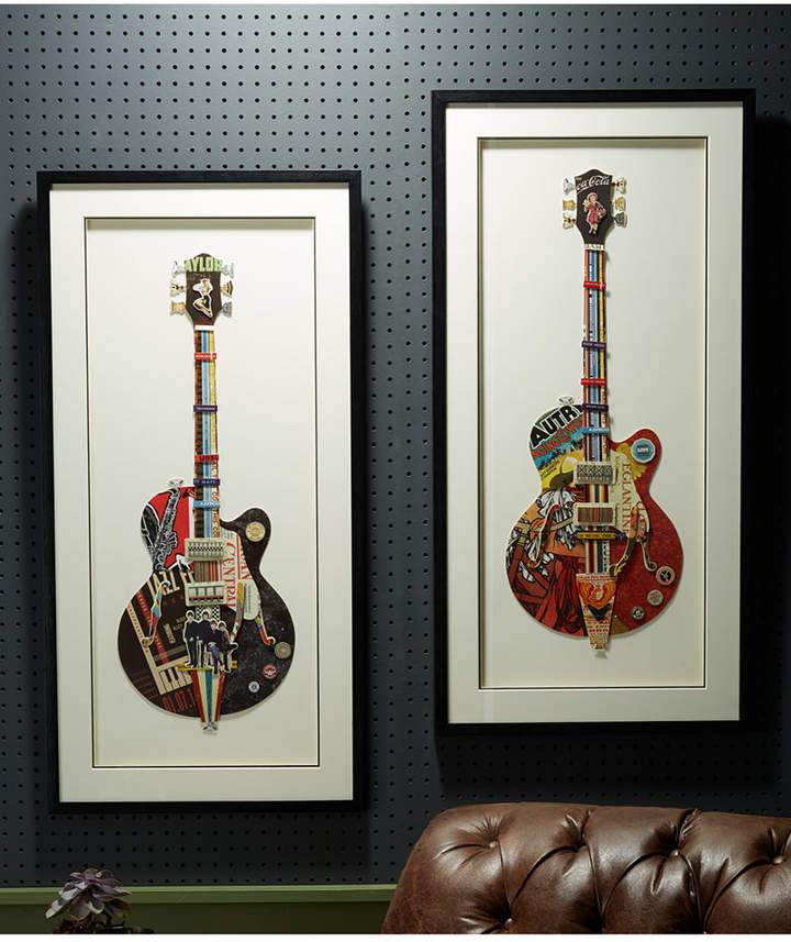 Twos Company Two's Company Rock On Wall Art, Set of 2