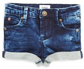 Hudson Infant Girls' French Terry Trimmed Denim Shorts - Sizes 12-24 Months