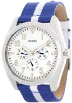 GUESS GUESS? Men's Dial Blue and Fabric Strap Multi-function Watch W80060G3