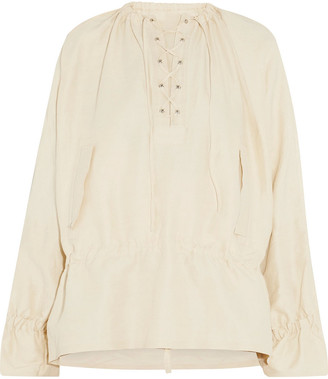 J.W.Anderson Lace-up Canvas Peplum Top