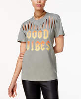 Freeze 24-7 Juniors' Cutout Good Vibes Graphic T-Shirt