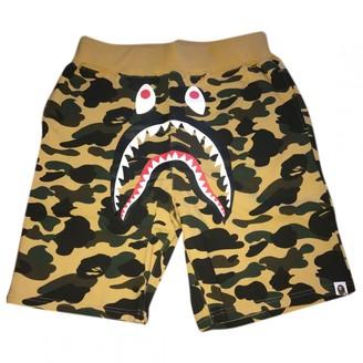 A Bathing Ape Yellow Cotton Shorts